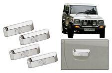 DLT -Chrome Plated Car Door Handle Cover for Mahindra Bolero (Set of 4)