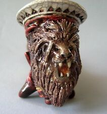 Rasta Lion Tobacco Pipe - Handmade And Raku Fired Studio Pottery