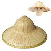 "42cm 17"" Vietnamese Japanese Asian Coolie Straw Bamboo Sun Hat Farmer Costume"