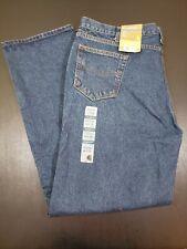 NWT Carhartt Men's Relaxed Fit Straight Leg Jeans Denim Blue B460 DVB 44x34