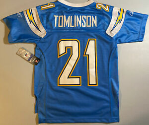 New Reebok EQT LaDainian Tomlinson Youth Small (8) San Diego Chargers jersey