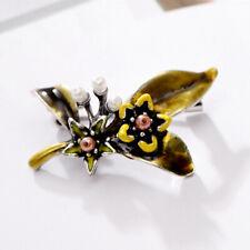 Vintage Flower Plant Bridal Bouquet Enamel Lapel Collar Brooch Pin Jewelry Gift*