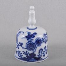 Meissen Vogelmodell Tischglocke Glocke, Knaufzeit kobaltblaue Unterglasurmalerei