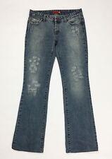 Liu jo jeans donna usato zampa bootcut svasati strappi W30 tg 44 boyfriend T3987