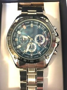 George Quartz Accuracy Watch With Stainless Steel Band