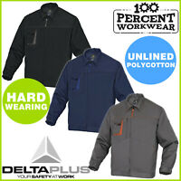Hard Wearing Mens Work Unlined Jacket Polycotton Drivers Warehouse Delta Plus