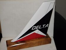 DELTA NORTHWEST AIRLINE AIRPLANE MODEL WOOD TAIL CLASSIC 70s  80s LOGO PILOT F/A