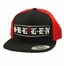 Sullen Clothing Town Ink Skater Punk Tattoo Paint Black Red Snapback Hat Cap