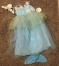 Pottery Barn Kids blue MERMAID Halloween costume dress up 7-8