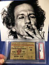 1976 Rolling Stones Concert Ticket Earls Court London PSA Jagger Richards