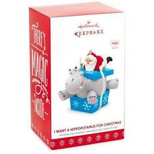 I Want A Hippopotamus For Christmas Santa 2017 Hallmark Magic Ornament  Hippo