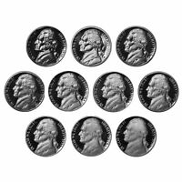 1970-1979 S Jefferson Nickel Gem Proof Coin Run 10 Coin lot