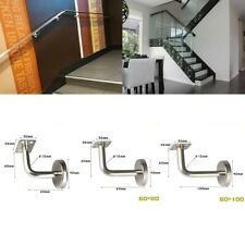 Handrail Bracket Bannister Rail Support Silver Stainless Steel Durable