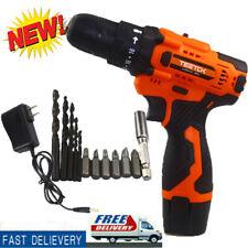 TEETOK Electric Cordless Drill Screwdriver Mini Handheld Drill 2-Speed 12V