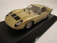 Minichamps Lamborghini Miura Gold 1/43 Scale New in Box, Ships From USA