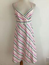 J.CREW Sleeveless Dress Sundress White Pink Black Yellow Green Fits Like Size M