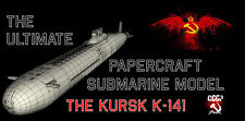 THE Ultimate Papercraft SUBMARINE modello il sottomarino Kursk k-141 Nuclear