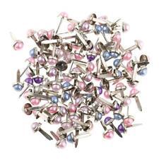 200x Pearl Head Split Pins Brads Paper Fasteners Scrapbooking Embellishment
