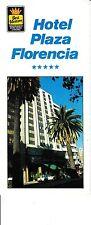 Hotel Plaza Florencia Best Western Mexico City Mexico DF Vintage Brochure