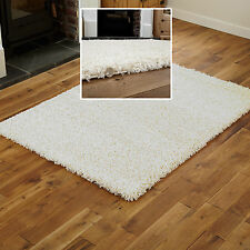 SHAGGY 5cm THICK RUG 150x210cm NON SHED BEST WHITE CREAM IVORY MODERN RUG SALE