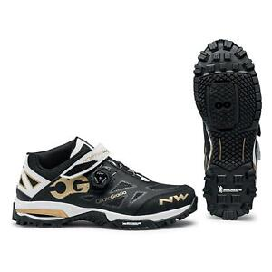 Northwave Enduro Mid Mountain Bike Shoes In Black / Off White / Gold