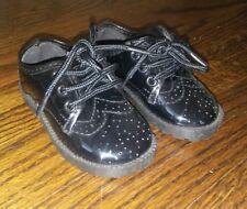 Boys Infant Toddler BLACK Pitter Patter New NWOT Shiny Size 3 laces