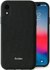 Evutec Compatible with iPhone XR, Ballistic Nylon Case (Black) Cover