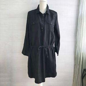 NWT Gloria Vanderbilt - Black chambray shirt dress, L