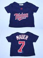 Infant/Baby Minnesota Twins Joe Mauer 0/3 Months Jersey T-Shirt Tee Majestic