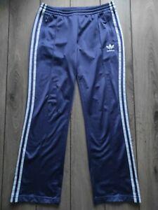 Ladies Vintage Adidas Purple Polyester Jogging Track Bottoms Size L