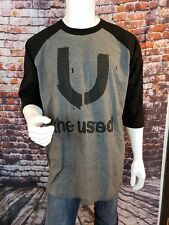 THE USED Concert 15 Year Anniversary Baseball T-Shirt Men's Size XL Music 584