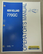 New Holland 770GC Rotary Mower Cutter Operators Manual