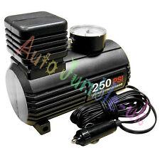 12v Mini Air Compressor 250psi Hi-speed Inflation Car Van Motorcycle Tyres Gauge