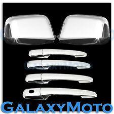 07-10 FORD EDGE Triple Chrome plated Full Mirror+4 Door Handle w/o PSG KH Cover