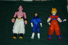 "3 Rare Vintage 1989 Huge Dragon Ball Z Action Figures 16"" Majin 15"" Sangoku +"