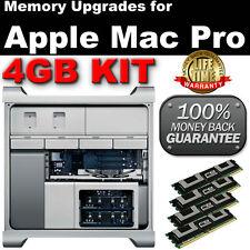 4 GB, 4X1 GB DDR2 667 Mhz Pc2-5300 Ecc Fbdimm Mac Pro 2006 2007 Ram Kit -