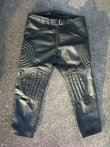 Vintage LEATHER MOTORCYCLE / MOTOCROSS PANTS 36 x 28 NICE!
