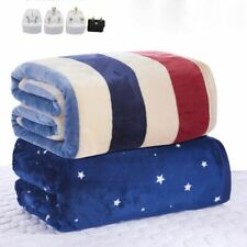 Electric Blanket Double Heated Warmer Over Thermostat Heating Heater Warmer