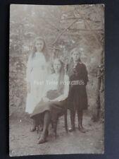 Dora, Margret & Dorathy Baker - Old RP Postcard (PM) WELLINGTON, SOMERSET SQ.C