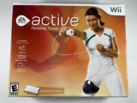 Wii Active Personal Trainer Package Game Disc Leg Strap Resistance Brand New