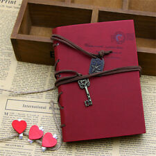 Retro Vintage PU Leather Bound Blank Pages Notebook Note Journal Diary T9I