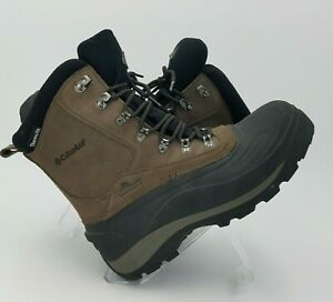 Columbia Mountain Hiking Boots Waterproof Brown Suede Leather Sz 8 NWOB