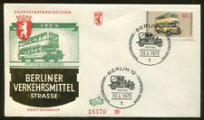 1973 Berlin Germany - Means of Transportation Double-decker Bus First Day Cover