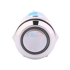 19mm 12V Auto Licht Blau LED Engel Auge wasserdicht Metall Push Button Schalter