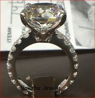 3ct White Forever Round Cut Moissanite Engagement Ring 925 Sterling Silver