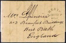 1820 War Department Washington to Bath RARE GREEN AMERICA MY/12/1820/F Falmouth.