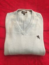MENS EXPRESS BABY BLUE 100% COTTON V-NECK SWEATER SIZE LARGE