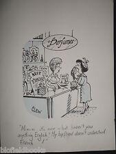 "CLIFFORD C LEWIS ""CLEW"" Original Pen & Ink Cartoon - Perfume Shop #305"