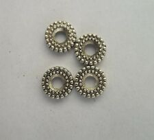 100pcs Tibetan silver Round flowers Beads Cap Spacer 6x2mm