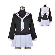 CARD CAPTOR SAKURA Girl Sailor School Uniform Cosplay Costume Dress Sets